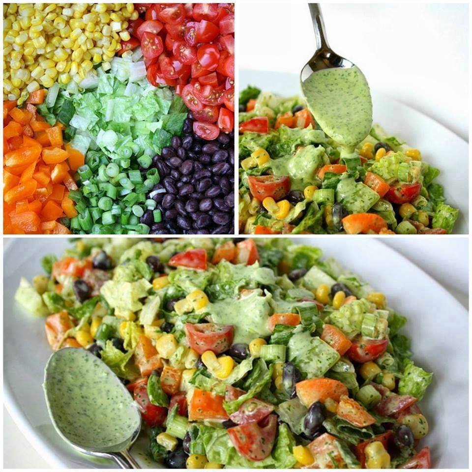 Healthy Southwestern Chopped Salad. Make it for lunch this week.